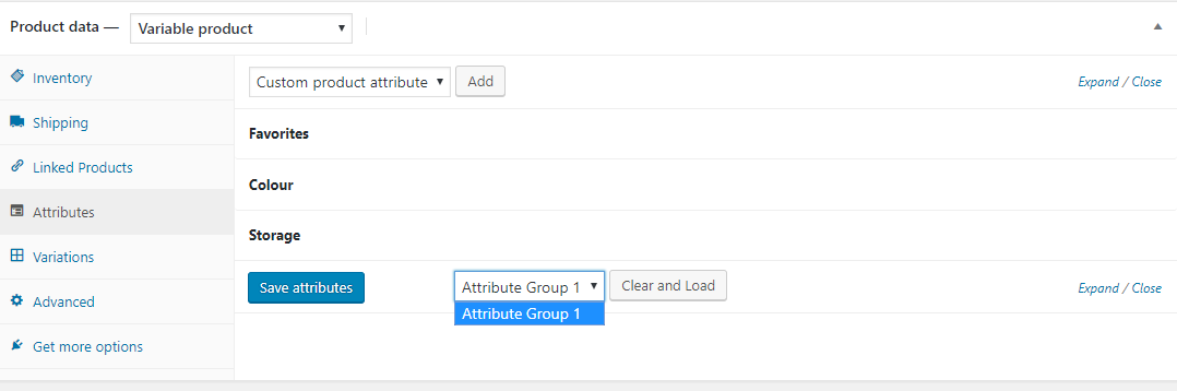 WooCommerce Grouped Attributes - 3